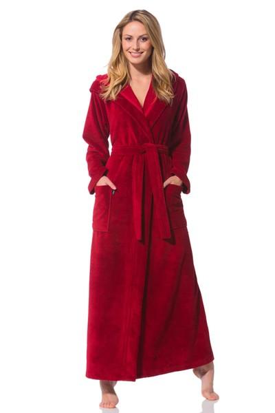 bademantel damen extra lang rot morgenstern. Black Bedroom Furniture Sets. Home Design Ideas
