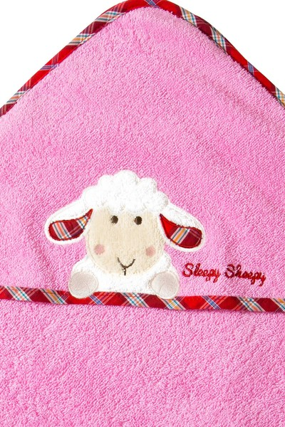 Kapuzenhandtuch Sleepy Sheepy Sweety, Morgenstern, Baumwolle, rosa
