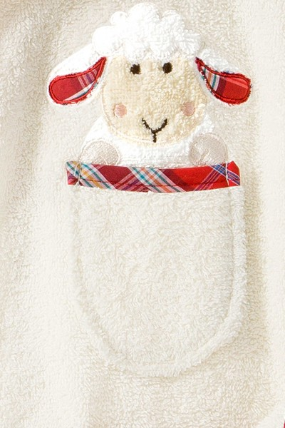 Morgenstern Kinderbademantel Sleepy Sheepy Sweety, natur