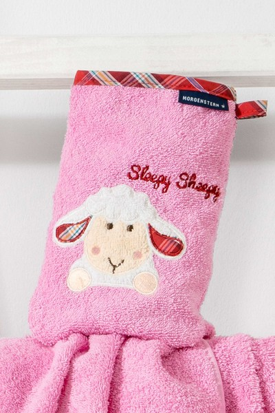 Kinder Handtuch Serie, Sleepy Sheepy Sweety, Morgenstern, Baumwolle, rosa
