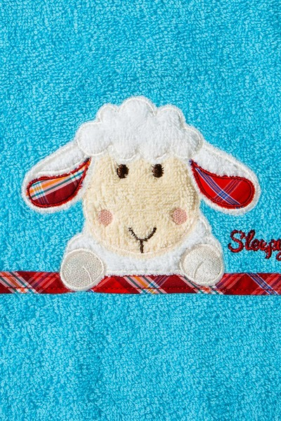 Lätzchen Sleepy Sheepy Sweety, Morgenstern, Baumwolle, türkis