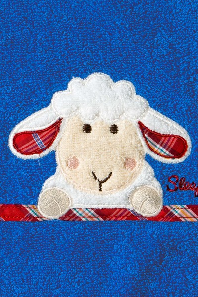Lätzchen Sleepy Sheepy Sweety, Morgenstern, Baumwolle, blau