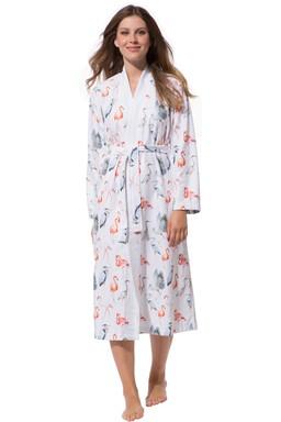 89d087727c9b29 Morgenmantel Damen Kimono, Skylight leicht, Flamingo, ...