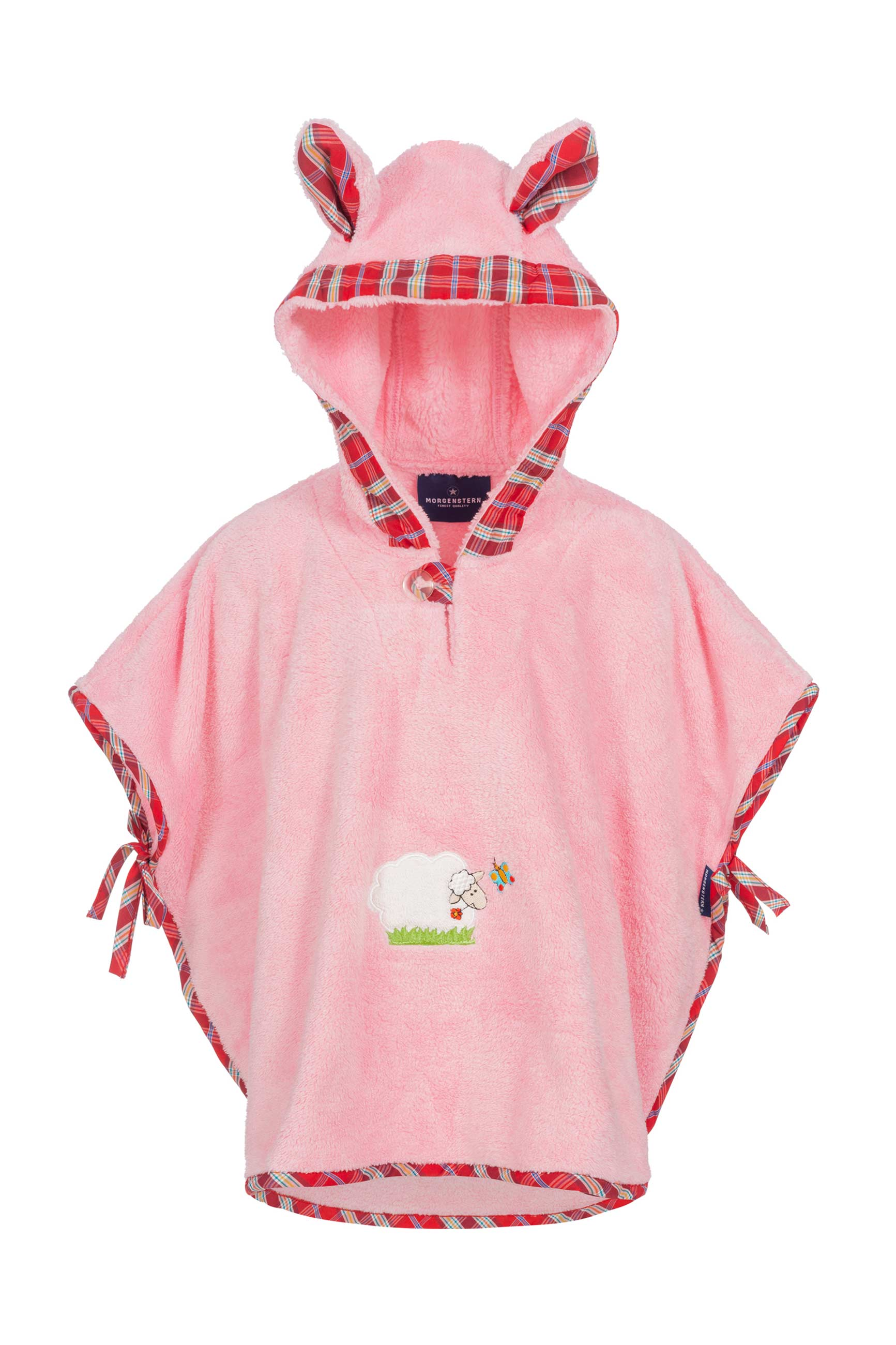 Morgenstern Badeponcho Sleepy Sheepy Schmetterling Serie, 100 % Microfaser, rosa, 1-3 Jahre