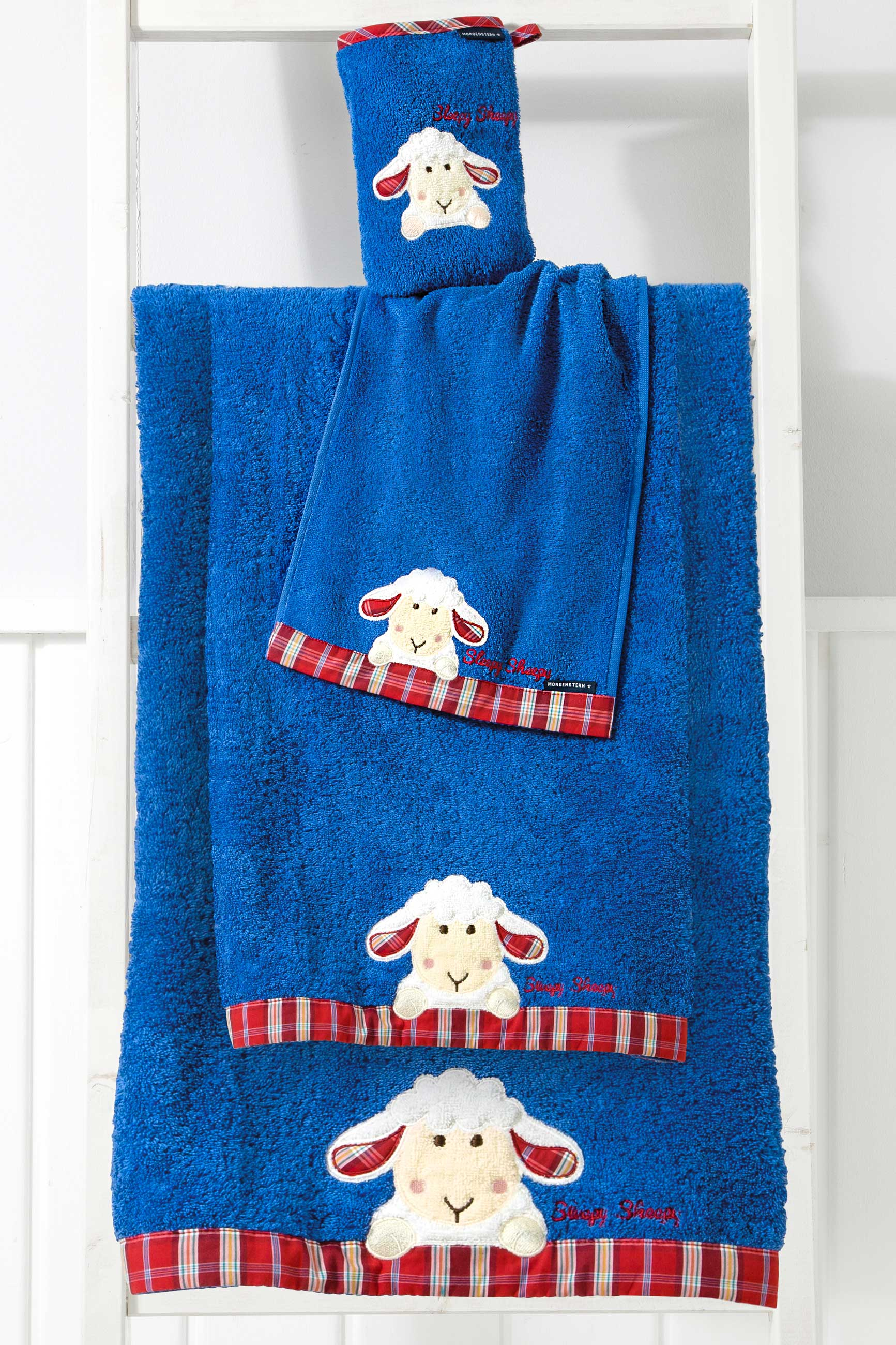 Kinder Handtuch Serie, Sleepy Sheepy Sweety, Morgenstern, Baumwolle, blau