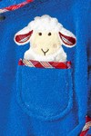 Morgenstern Kinderbademantel Sleepy Sheepy Sweety, blau