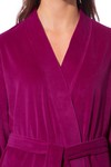 Morgenstern Bademantel Damen Kimono, Velours, Theresa, fuchsia